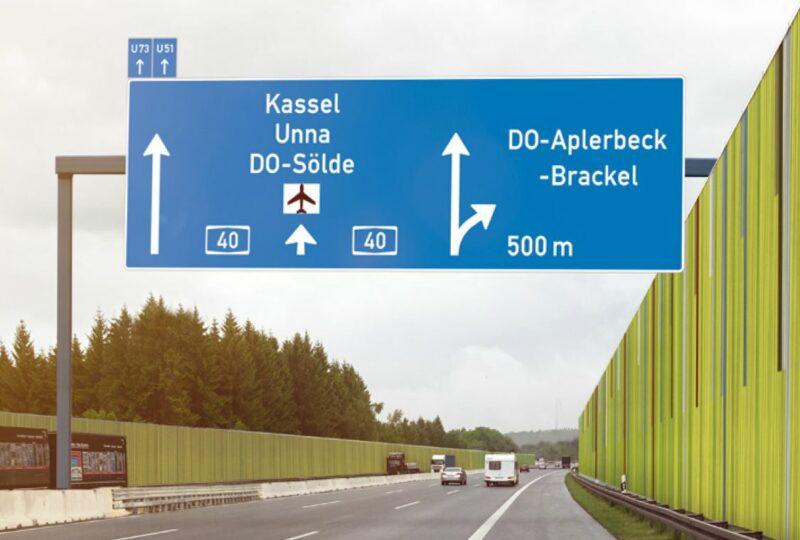 Eine Animation zeigt, wie die Strecke nach dem Ausbau zur Autobahn A 40 aussehen wird