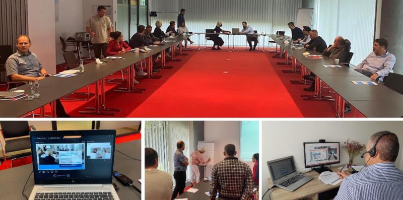 Testlauf für hybride Formate: Die Schulung fand in den Räumen der DEGES NRW in Düsseldorf und als Videokonferenz statt