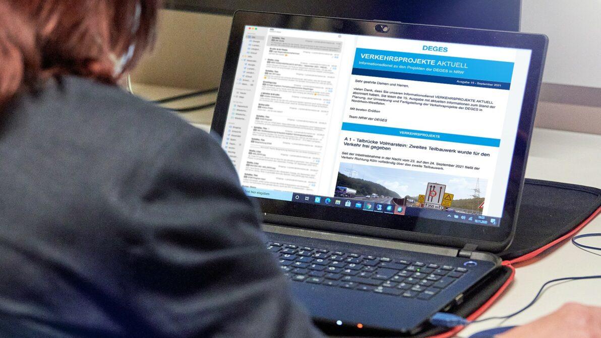Seit Mai 2017 liefert der Informationsdienst der DEGES Abonnenten regelmäßig Informationen und Hintergründe zu den Projekten der DEGES in NRW